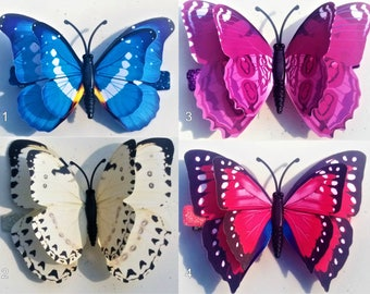 Medium 3D Butterfly Hairclips