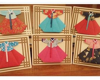 Beautiful Handmade  Traditional Korean Dress -Hanbok  Card