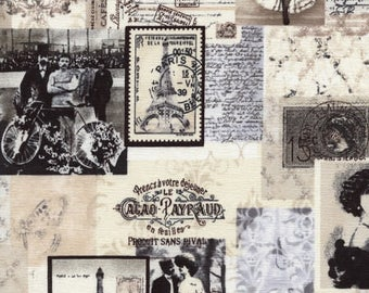 Cotton Fabric Quilting Timeless Treasures Vintage April in Paris