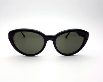 Liz Claiborne Black Sunglasses Oversized Cat Eyes Glasses Frames 90s Vintage Sun Glasses Sunglass Summer Festival Concert