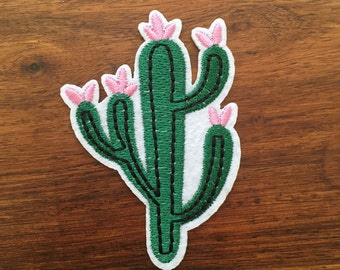 Flowering Cactus - Iron on Appliqué Patch