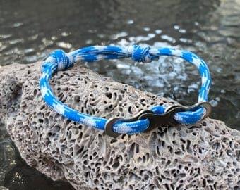 Bike Chain Bracelet - Paracord Bracelet - Chain Bracelet - Biker - Bicycle Chain - Metal Bracelet (Adjustable)