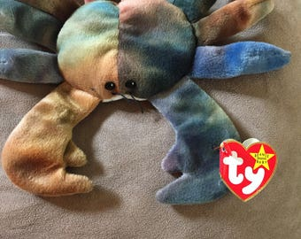 Claude the Crab Beanie Baby with rare tag errors