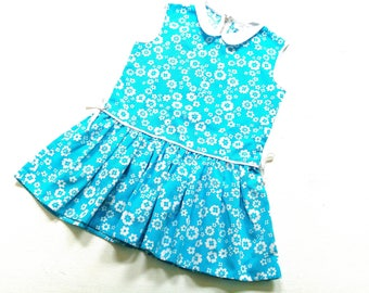 60s GirlS vinTage dreSs size 5-6Y retro 70s oldSchoOl dress 70s 60s 116/122