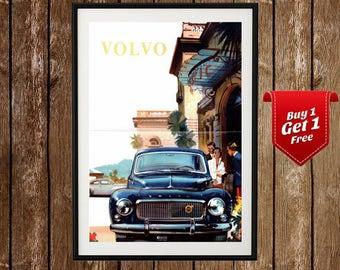 Vintage Volvo Ad - Vintage Volvo, Volvo Art, Old car poster, Car poster, Classic Volvo, Vintage cars, Retro Car Ad, Vintage car ad