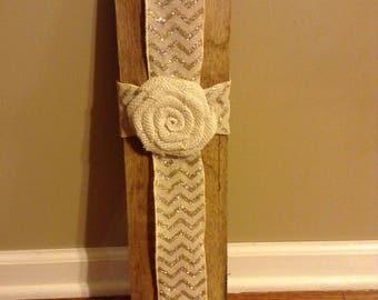 Barn Wood Ribbon Cross