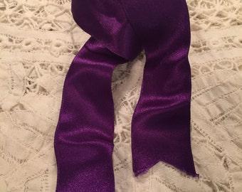 Beautiful Purple Double Sided Satin Ribbon.