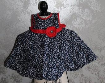 Summer sleeveless ankara print toddler dress; Size 2T