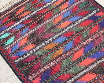 Embroidered Beluci Kilim Runner, Tribal Kilim, Boho Kilim, Turkish Cicim Kilim, Needlework Kilim, Persian Kilim  5.5 x 2.4 ft / 170 x 74 cm