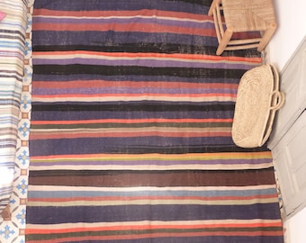 Striped Kilim Rug Etsy