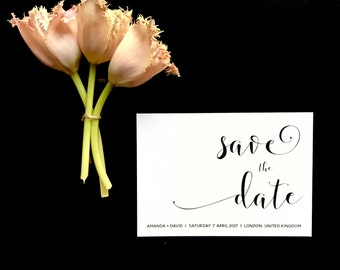 Elegant Save the Date - Black and White Save the Date - Modern Save the Date - Formal Save the Date - Wedding Save the Date