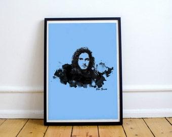 Art print Game of Thrones Jon Snow A4 Poster