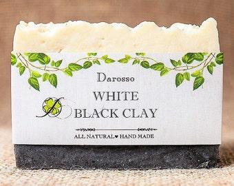 White & Black Clay, All Natural Soap, Handmade Soap, Detox Soap, Vegan Soap, Gift for him, Gift for her, Luxury Soap, Organic Soap, For Man