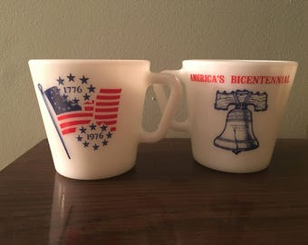 1976 Bicentenial Pyrex mugs (2)