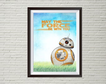Star Wars BB8 mini art print