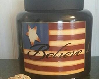 Americana Cookie Jar/ Centerpiece
