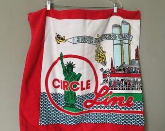 vintage circle line beach towel