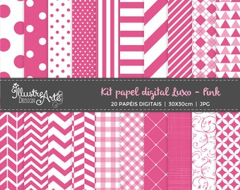 50% OFF - Digital Paper Basic Pink