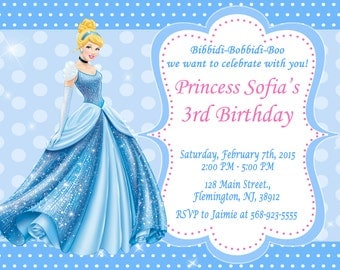 Princess Cinderella Invitation Birthday Party