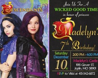Descendants Invitation Birthday - Descendants Party