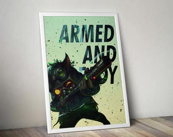 Omega Squad Teemo Poster - League of Legends