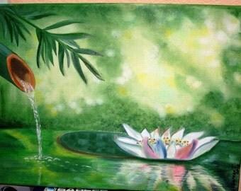 Лотос в пруду / Lotus in the pond