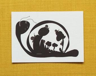 "Postcard ""snail-shell"""