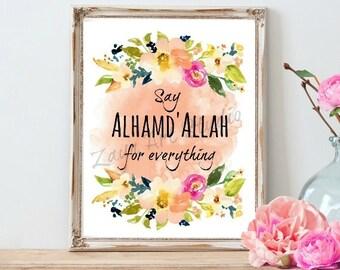AlhamdAllah for Everything print