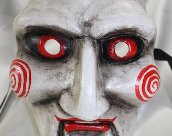 Saw Jigsaw Puppet Halloween Horror Full Face Venetian Masquerade Mask 072