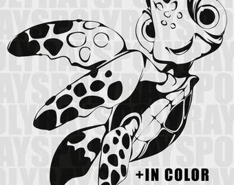 Little Turtle SVG, Disney Nemo PNG, Nemo svg, Finding Dory EPS, Stencils, Nemo Vector Files, Turtle Clipart