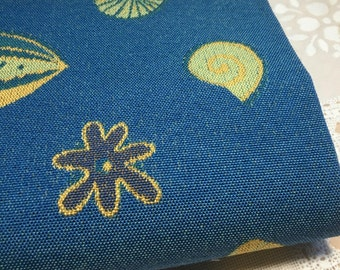 Norbar fabric sample-fabric remnant-upholstery fabric-ocean fabric-seaside fabric-luxury fabric-blue and gold fabric-home decor fabric