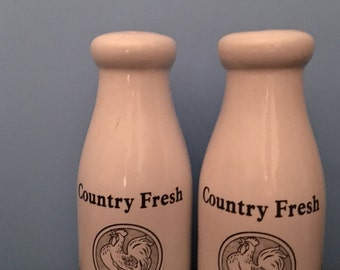 Country style salt and pepper shaker