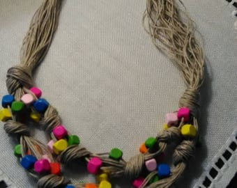NEcklace jewerlry of hemp  handmade