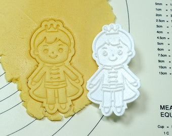 Cute Prince Cookie Cutter and Stamp