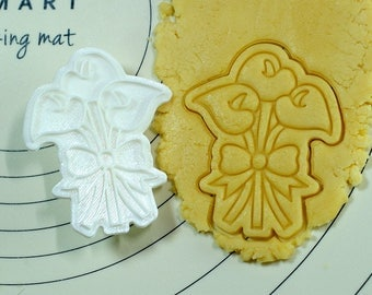 Calla Flower Cookie Cutter and Stamp