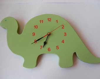 Dinosaur clock,wooden clock,childerns room decor,wall decor,boys room,dino