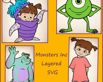 Monsters Inc SVG - Mike Sully Boo SVG - Monsters Inc decals - Monsters Inc designs for Cricut and silhouette