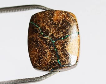 Awesome Natural Australian Boulder Opal Gemstone, Drilled Stone, Calibrated, Loose Semi Precious, Gemstone For Pendant, Designer, Cab 2642