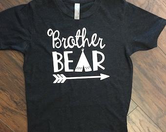 Heather Black Brother Bear TEE