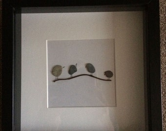 "Beach Pebble ""Birdie' Frame"