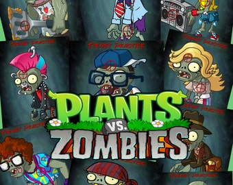 Plants vs Zombies PVZ Nerf Targets