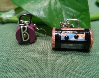 Earrings small suitcases. Miniature suitcases for your ears! Adorable