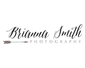 Premade Arrow Photography Logo