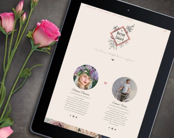 Website for wedding | with Photo Gallery | Invitation | Retro & vintage. Wedding homepage