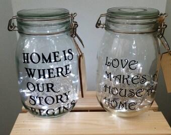 Personalised Jars.