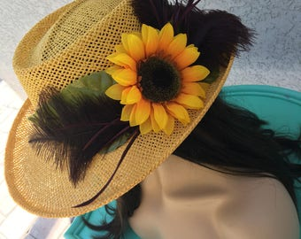 Sunshine Yellow Sunflower Hat