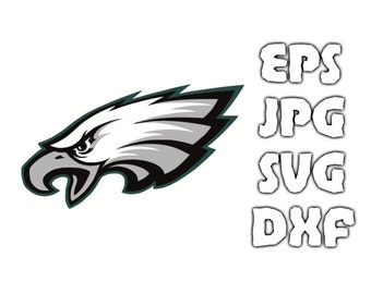Philadelphia Eagles logo SVG - Vector Design in Svg Eps Dxf Jpeg Format INSTANT DOWNLOAD