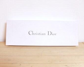 CHRISTIAN DIOR tie old Paris avenue Montaigne Vintage Dior box box