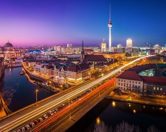 Berlin Cityscape, Germany - Digital fine art photography print
