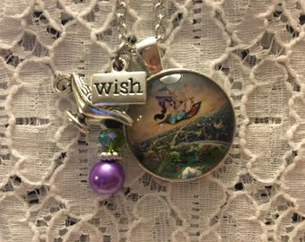Aladdin Charm Necklace/Aladdin Jasmine Necklace/Aladdin Jewelry/Disney Aladdin/Aladdin Necklace/Jasmine Jewelry/Princess Jasmine Necklace